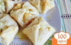 Фото рецепта: «Медовые слойки с творогом»