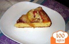 Фото рецепта: «Творожная запеканка с яблоком и миндалем»