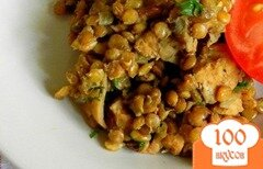 Фото рецепта: «Чечевица с мясом в мультиварке»