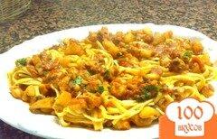 Фото рецепта: «Паста с осьминогом и картофелем»