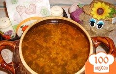 Фото рецепта: «Кислые и ароматные щи из квашеной капусты»