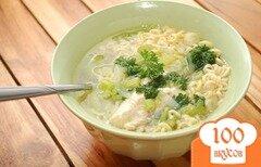 Фото рецепта: «Куриный суп с лапшой роллтон»