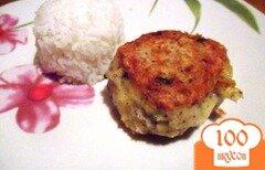 Фото рецепта: «Рыбные котлеты с сыром»