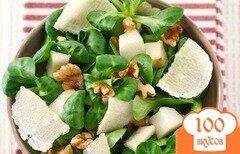 Фото рецепта: «Салат с грушей и пармезаном»