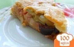 Фото рецепта: «Вкусная пицца с колбасой»
