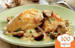 Фото рецепта: «Курица тушеная в сметане»