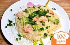 Фото рецепта: «Паста с креветками и соусом Альфредо»