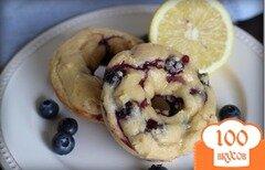 Фото рецепта: «Чернично-лимонные пончики»
