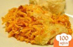 Фото рецепта: «Запеченные спагетти с мясом и сырным ассорти»