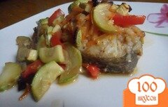 Фото рецепта: «Рыба, запечёная в овощах»