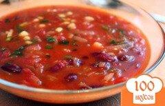 Фото рецепта: «Острый томатный суп с фасолью»