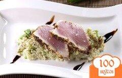 Фото рецепта: «Тунец с рисом и горчицей васаби»