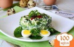 Фото рецепта: «Салат с черемшой и куриными яйцами Весенний»