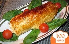 Фото рецепта: «Закусочные рулеты из слоеного теста»