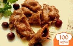 Фото рецепта: «Шоколадные вареники с вишней»