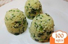 Фото рецепта: «Салат из кус-кус и шпината»