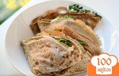 Фото рецепта: «Блинчики со шпинатом и сыром»
