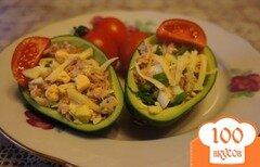 Фото рецепта: «Салат с тунцом и авокадо»