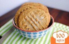 Фото рецепта: «Печенье с арахисовым маслом и медом»