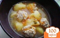 Фото рецепта: «Густой суп с фрикадельками»