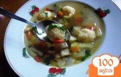 Фото рецепта: «Сырные шарики. Быстрый болгарский суп.»