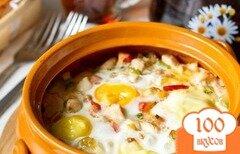 Фото рецепта: «Яйца,запеченные с курицей»
