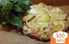 Фото рецепта: «Пицца грибная с яйцом»