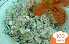 Фото рецепта: «Лёгкий салат из печени трески»