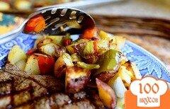 Фото рецепта: «Картофель с овощами»