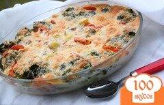 Фото рецепта: «Запеканка из картофеля и брокколи с тунцом»