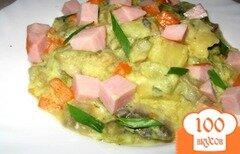 Фото рецепта: «Овощное рагу в сливочном соусе»
