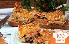Фото рецепта: «Греческий пирог с брынзой и перцем чили»