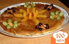 "Фото рецепта: «Пирог яблочный ""Цветочная поляна""»"