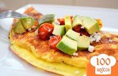 Фото рецепта: «Омлет с печеными помидорами и сыром»