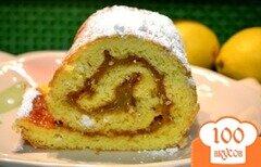 Фото рецепта: «Рулет с лимонным курдом»