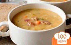Фото рецепта: «Гороховый суп с копчеными рёбрышками»