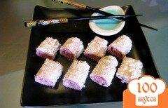 Фото рецепта: «Клубничные роллы»