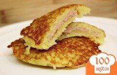 Фото рецепта: «Картофельные блины с мясом»