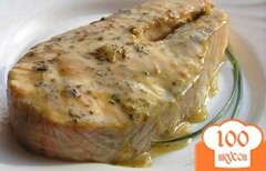 Фото рецепта: «Стейки лосося в карамельном соусе»