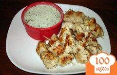 Фото рецепта: «Маринованная курица на гриле с огуречным соусом»