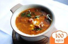 Фото рецепта: «Суп из лисичек с фасолью»