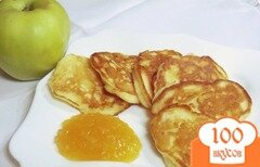 Фото рецепта: «Оладьи с яблоками»