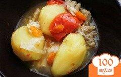 Фото рецепта: «Сытное овощное рагу с курицей»