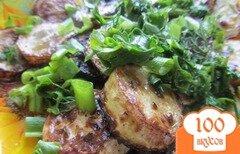 Фото рецепта: «Жаренные кабачки с зеленью и специями.»