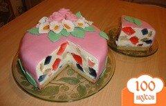"""Фото рецепта: «Торт желейный """"битое стекло""""»"""