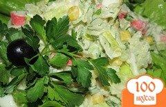 Фото рецепта: «Крабовый салат с рисом»