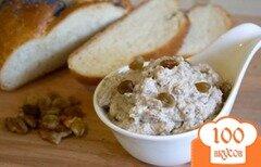 Фото рецепта: «Крем из рикотты, изюма и грецких орехов»