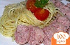 Фото рецепта: «Запеченные купаты со спагетти»