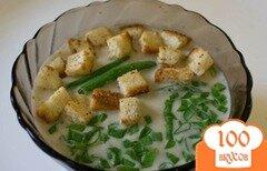 Фото рецепта: «Суп из шампиньонов с ароматными сухариками»