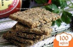 Фото рецепта: «Злаковые хлебцы с кунжутом и соевым соусом»